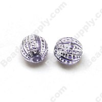Gilding Silver Line Round Beads 12mm ,Voilet