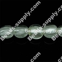 Glass Silver Foiled Coin Beads 20mm