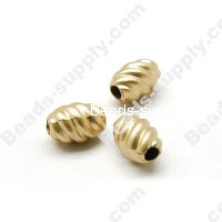 Gold Plating Beads 10x14mm