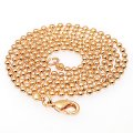 High quality Metal ball chain with lobster clasp,2.4mm ball,Golden