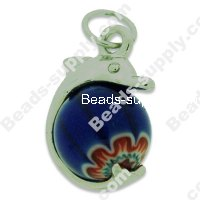 Millefiori Glass Pendants 40 mm