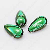 Miracle Beads Teardrop beads 12 *23mm , Green
