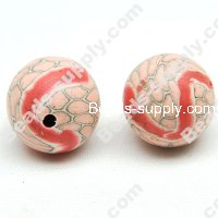 Polyclay/Fimo Round Beads 12mm