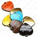 Wood Grain Plastic Heart 21mm*25mm*3mm, Assorted Color