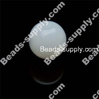 Acrylic Jelly Round Bead 12mm , White