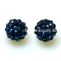 Bead,Round Resin Pave Beads,Montana Base,Montana,Sold 100 Pcs Per Package