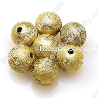 Bead,acrylic shimmering beads,golden,wrinkle Round Beads 4mm