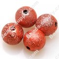 Bead,acrylic shimmering beads,red,wrinkle Round Beads 8mm