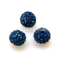 Beads,Pave Polyclay Round Beads 8mm , Indicolite