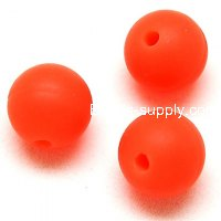 Beads,Silicon Beads,14mm Round Beads,Orange