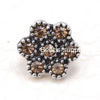 Beads,crystal flower slide charm for poesy slide charm bracelet and agatha paris jewelry