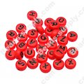 Beads,solid acrylic Alphabet Beads ,4x7mm,red ,assorted letters
