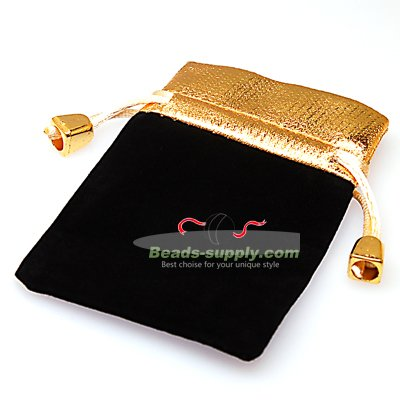 Black velvet gifts bag,7x9cms - Click Image to Close