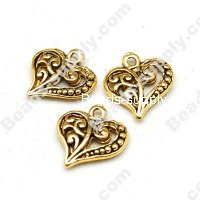 Casting Charms 14mm,antique silver plating