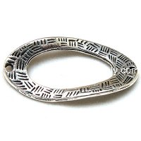Charms,18*36 Twist Oval,Vintage Charms,Antique silver
