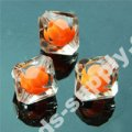 Colorful Bead in Bead Acrylic Bicone Beads 12mm