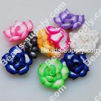 Fimo Flower Beads 25mm,Assorted