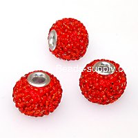 Indonesia Jewelry Beads, 13x15mm,red handmade beads,sold of 20 pcs