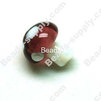Lampwork mushrooms Beads 15*20mm,Purple