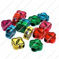 Large hole beads,plastic beads,assorted color,Flower