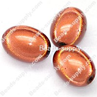 Miracle Beads Oval/Rice 14*19mm , Lt Coffee