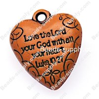 Pendants,pattern heart pendants,imitation ceramic