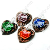 Silver Foiled Heart shape Pendants , Approx Size 40mm*50mm