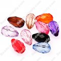 11x18mm,faceted teardrop transparent acrylic beads,mixed color