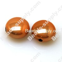Acrylic Beads, Brightness Orange,Flat Round 11*17mm