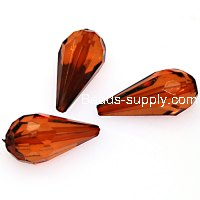 Acrylic transparent teardrop beads,11x24mm , coffee color
