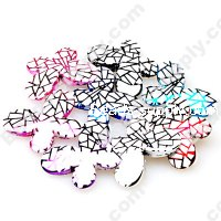 Bead, Meshing UV engraved , mixed color, 29x21x6mm butterfly beads. Sold per pkg of 100 PCS