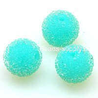 Bead, acrylic, aquamarine, 12mm round beads . Sold of 200 Pieces