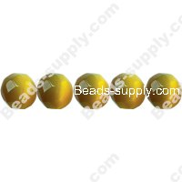 Cats Eye Football Beads 6mm
