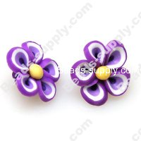Fimo Flower Beads 20mm,Lt Purple