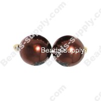 Glass Pearl Round Bead 8mm Coffee