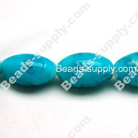 Glass Silver Foiled Oval Beads 20x30mm