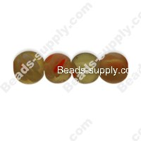 Millefiori Glass Multi-Flower Round Beads 6 mm