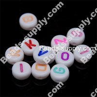 Oblate Alphabet Beads 4*7mm