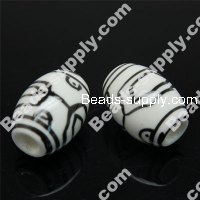 Porcelain Oval Beads 16x22mm
