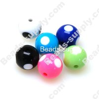Printing beads 12mm Mixed Color