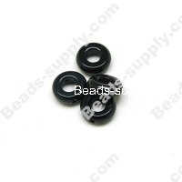 black agate(natural), 10X3mm Donut beads