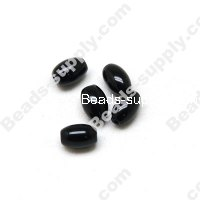 black agate(natural),6X9mm Oval beads