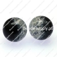 Acrylic Crackled beads ,Round Beads 8mm ,black color