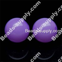 Acrylic Jelly Round Bead 14mm , Voilet