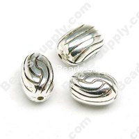 Antique Silver Plated Acrylic Beads 10x14mm