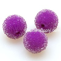Bead, acrylic, purple, 12mm round beads . Sold of 200 Pieces