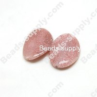Cracked Acrylic Oval Beads 28mm*40mm