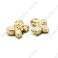 Gold Plating Butterfly Beads 16x22mm