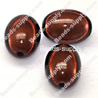 Miracle Beads Oval/Rice 14*19mm , Coffee
