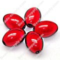 Miracle Beads Oval/Rice 9.5*14mm , Red